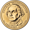 George Washington Presidential $ Coin obverse - Wikipedia - Public Domain