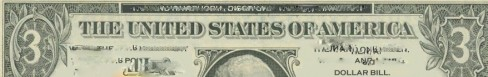 THREE DOLLAR BILL - Wikipedia - Public Domain