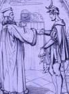 http://commons.wikimedia.org/wiki/File:Teufelspakt_Faust-Mephisto,_Julius_Nisle.jpg