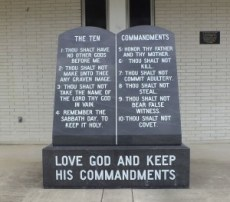 https://commons.wikimedia.org/wiki/File:Ten_Commandments_marker_in_front_of_Dixie_County_Courthouse.JPG
