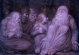 PAINTING - Blake - 1793 - Jobs Tormentors - Wikipedia - US -Public Domain