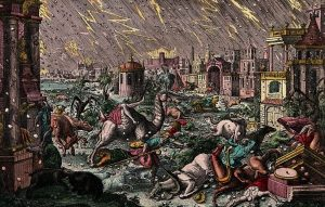 https://commons.wikimedia.org/wiki/File:The_plague_of_hail_and_thunder._Coloured_etching._Wellcome_V0010565.jpg