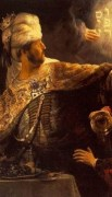 http://commons.wikimedia.org/wiki/File:Rembrandt_-_Belshazzar%27s_Feast_-_WGA19123.jpg