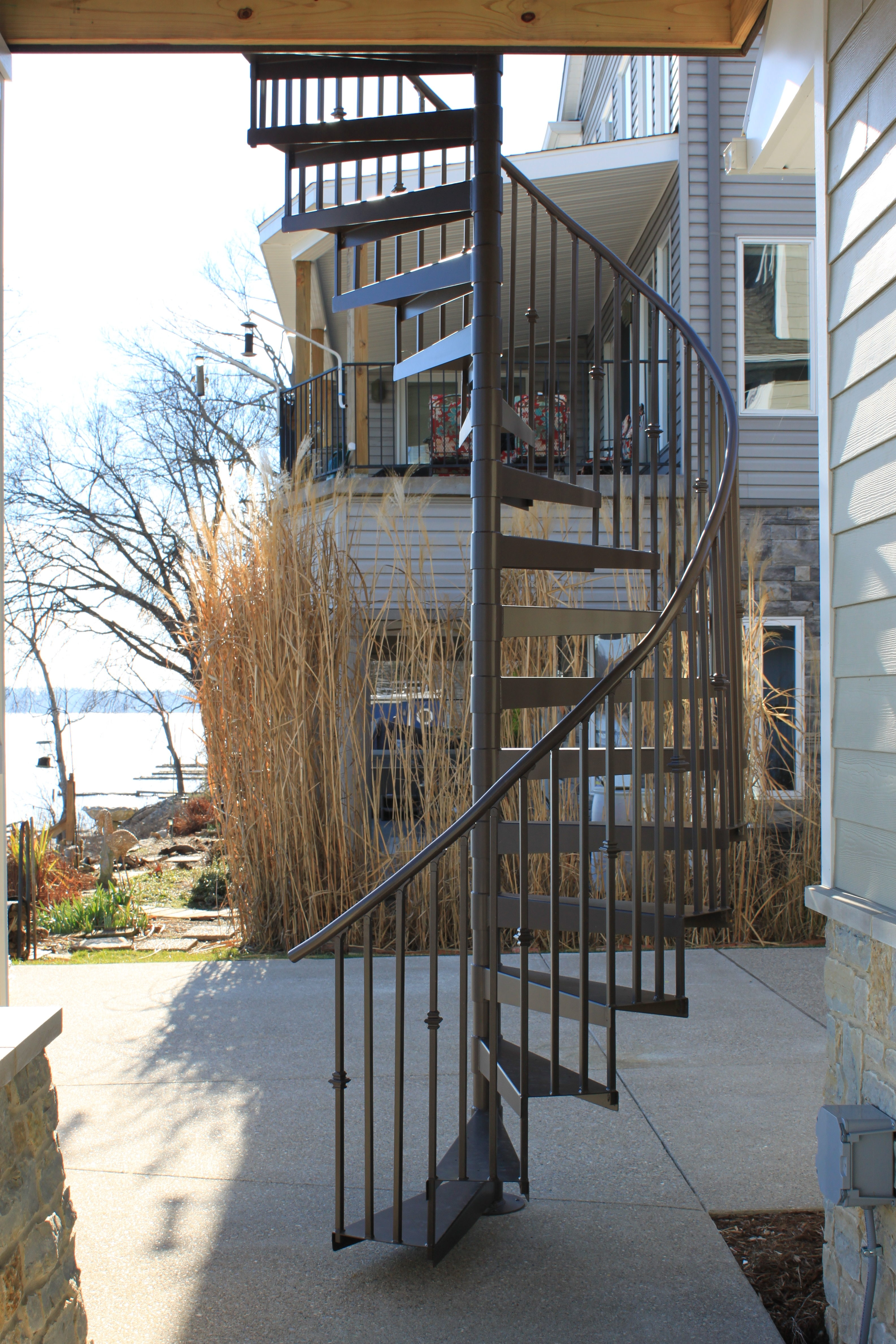 Spiral Staircases Heck S Metal Works | Exterior Metal Spiral Staircase | Interior | Outdoor | Free Standing | Custom Exterior | Model