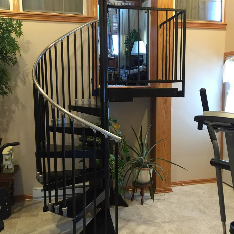 Spiral Staircases Heck S Metal Works | Used Spiral Staircase For Sale | 4 Foot | Corkscrew | Contemporary | Steel | Outdoor