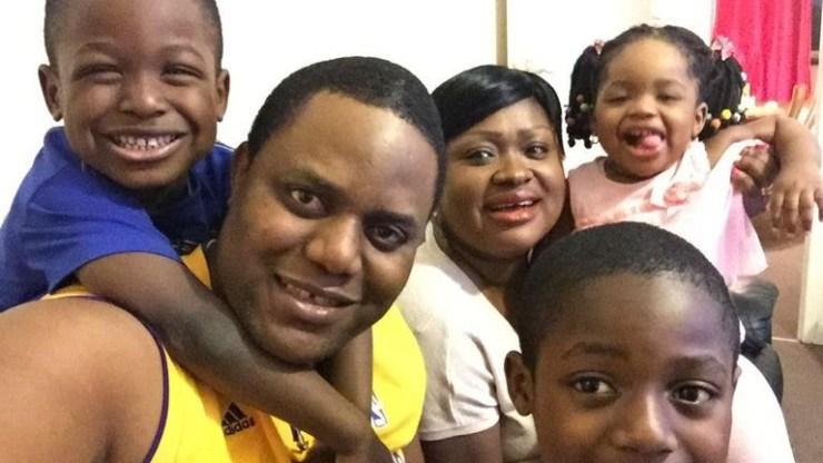Mrs Bamgbose (centre) had three children