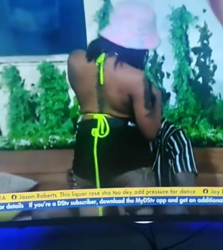 BBNAIJA UPDATE : Toxic relationship – Angel grinding on Sammie at the Jacuzzi Party sparks reactions online (video)
