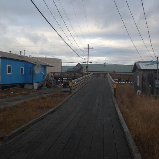 Alaska Board walk on the way to school