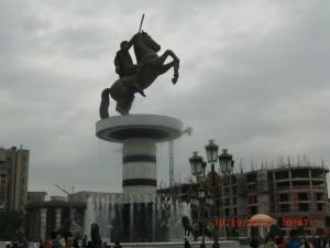 Macedonia-statue