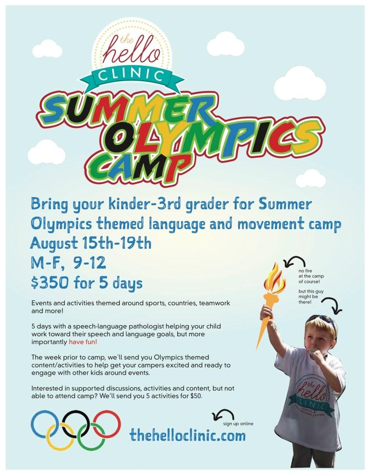 Olympics Camp Flyer