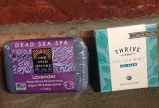 Dead Sea Spa Soap and Thrive Market Lip Balm