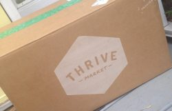 Thrive Market Box arriving in the mail