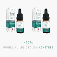 -20% pour 2 Huiles CBD 20% achetées | SMC Laboratories