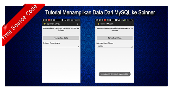 Tutorial Menampilkan Data dari Database MySQL ke Spinner Android