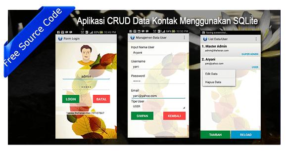 Aplikasi CRUD Data Kontak Menggunakan SQLite