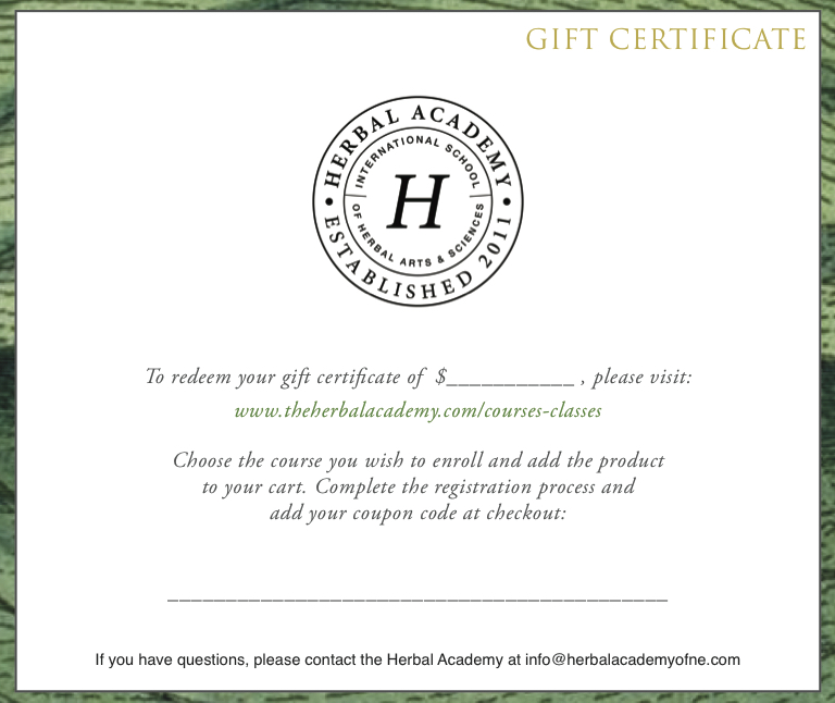 certificate of gift