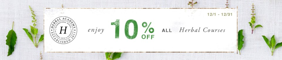 10% off Online Herbal Courses