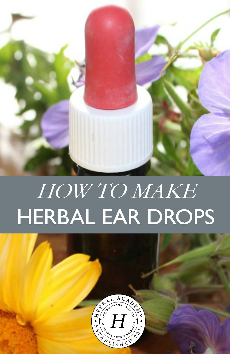 How to Make Herbal Ear Drops | Herbal Academy | Do earaches ever sneak up on you without warning? Learn how to make herbal ear drops in your own kitchen to have on hand for soothing those ear infections!