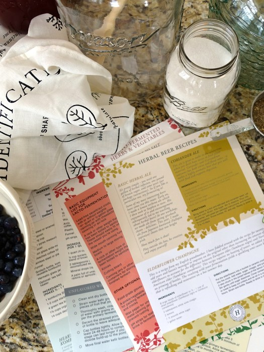The Craft of Herbal Fermentation Course by the Herbal Academy - Laminated Guides