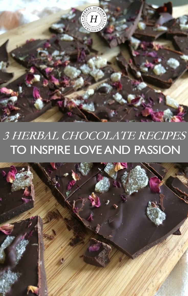 3 Herbal Chocolate Recipes To Inspire Love and Passion | Herbal Academy | Want to inspire love and passion this Valentine's Day? Try your hand at creating these herbal chocolate recipes that your sweetheart is sure to love!