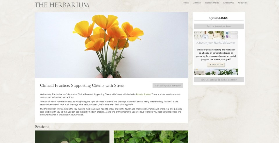 What Every Clinical Herbalist Should Know About Supporting Clients With Stress | Herbal Academy | Come take a sneak peek into our new Herbarium feature... our very first herbal intensive for clinical herbalists on supporting their clients with stress!