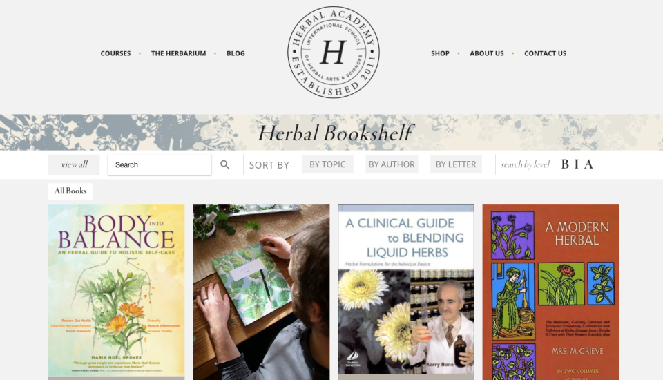 The Herbal Bookshelf by the Herbal Academy