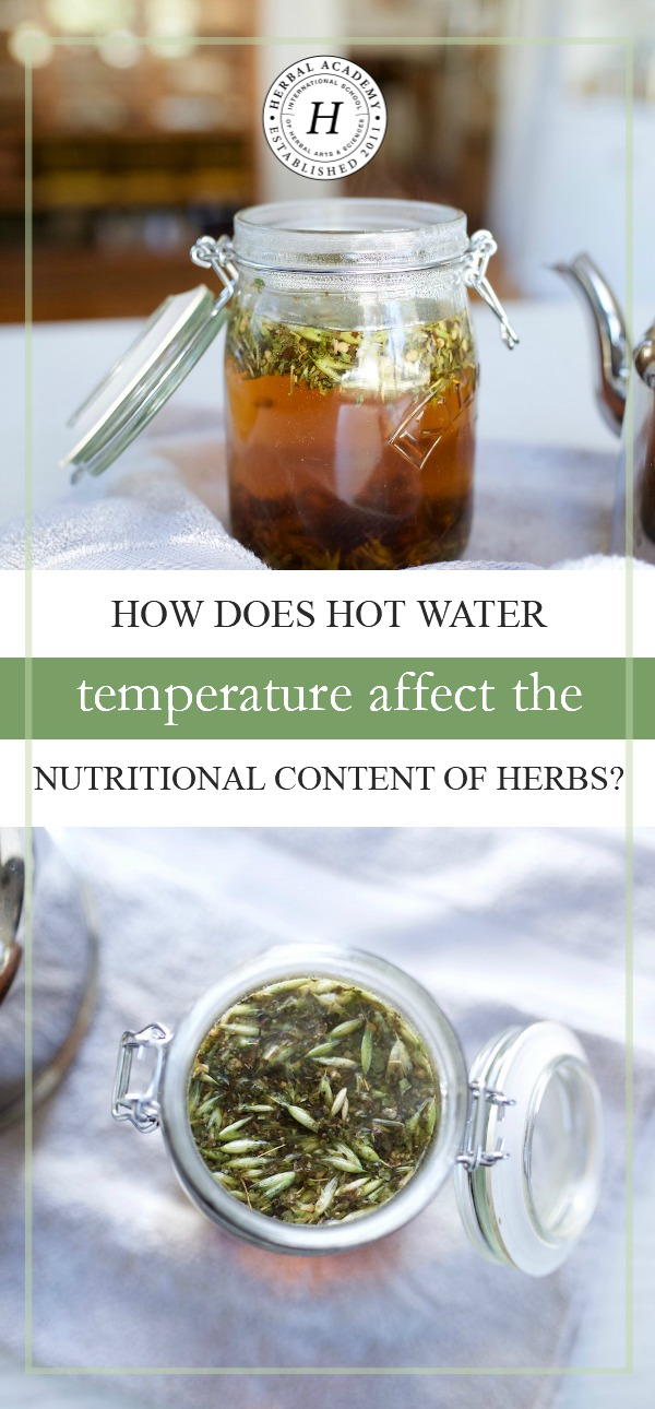 How Does Hot Water Temperature Affect The Nutritional Content Of Herbs? | Herbal Academy | Let's take a look at the good and bad side of using hot water temperatures when making herbal preparations, and how it affects the nutritional content of herbs!