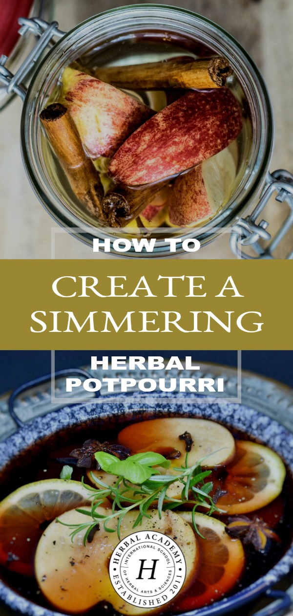 How to Create a Simmering Herbal Potpourri | Herbal Academy | Banish every day odors throughout your home without causing health hazards with this simmering herbal potpourri recipe, perfect for the holidays too!