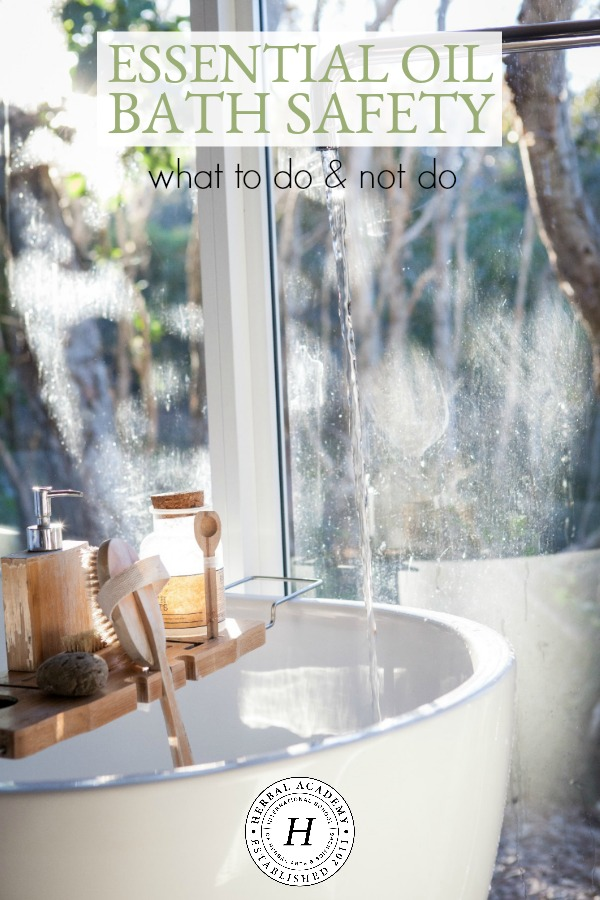 Essential Oil Bath Safety: What To Do & Not Do   Herbal Academy   If a warm bath with essential oils helps you destress at the end of the day, here are some essential oil bath safety tips to keep you safe while you relax.