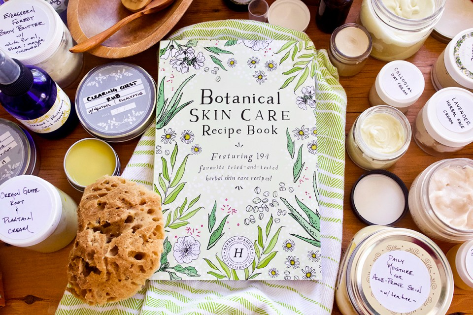 Your Favorite Botanical Skin Care Recipes—In Print! | Herbal Academy | Get 194 good-for-you-body skin care recipes featured in our new Botanical Skin Care Course in print format in our new Botanical Skin Care Recipe Book!