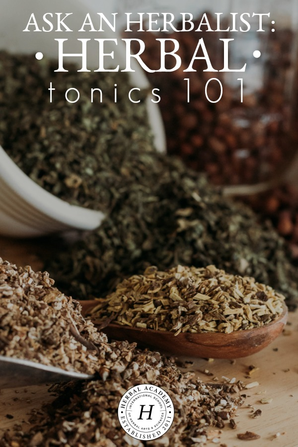 Ask An Herbalist: Herbal Tonics 101 | Herbal Academy | We're shedding some light on some common misconceptions surrounding herbal tonics and how to use them in this new Ask An Herbalist video.