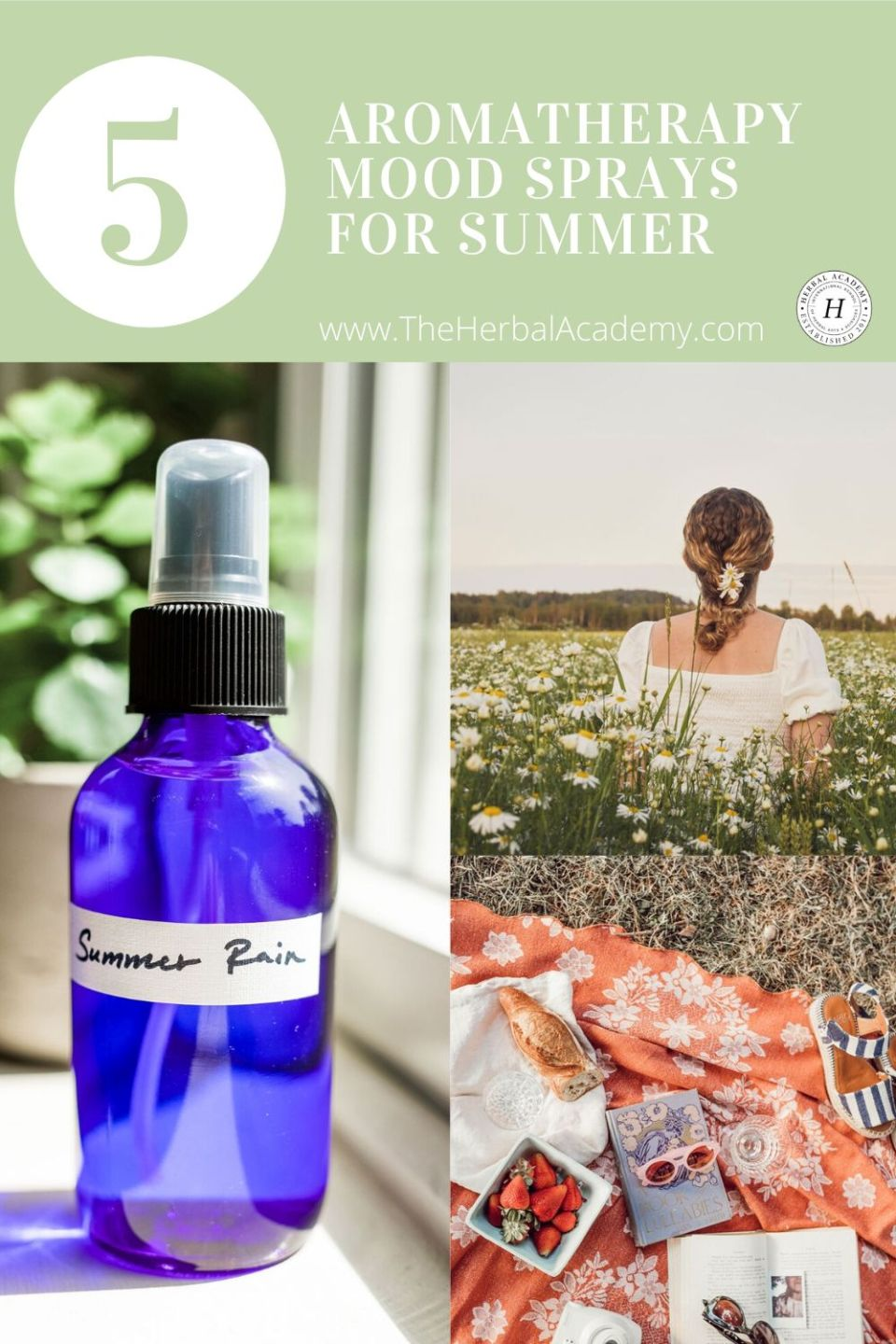 5 Aromatherapy Mood Sprays for Summer | The Herbal Academy | An aromatherapy mood spray is easy to make and use. When made in small batches, each batch can feature a scent that kindles a different memory or feeling.
