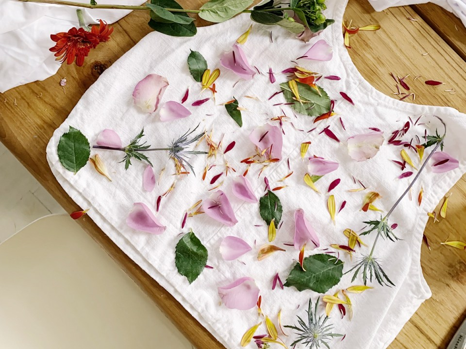 NATURAL FLOWER SHIRTS CRAFT - Herbal Academy Online Nature Camp