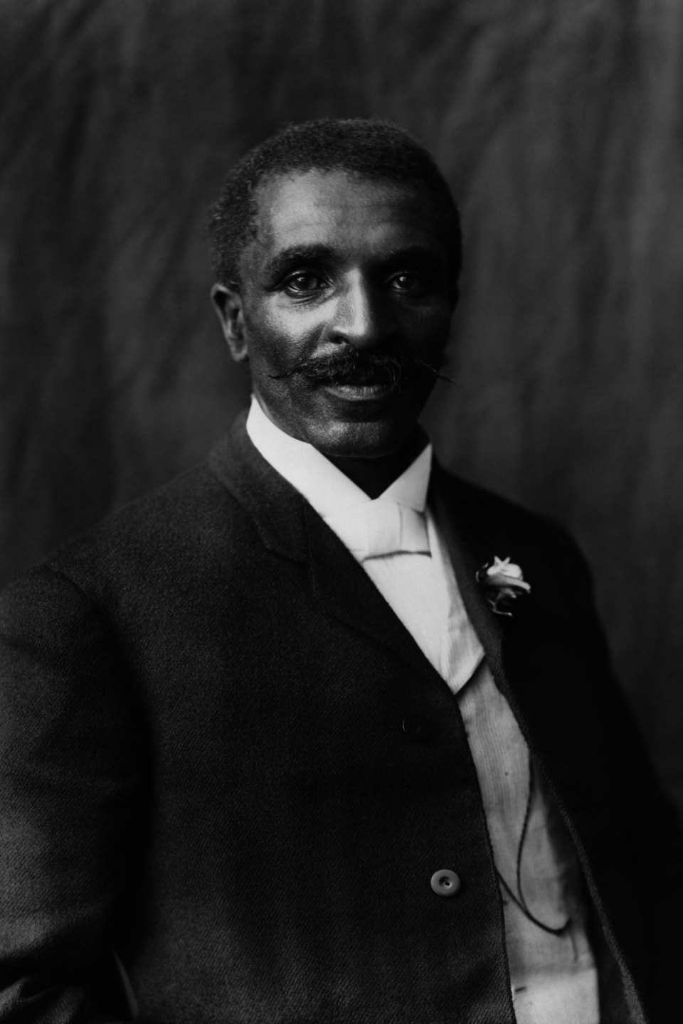Black and white photo of George Washington Carver