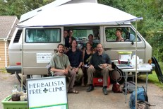 Thank you Blue Ridge School of Herbal Medicine Clinical Program for hosting the bus and serving your fellow Ashevillians with sweet, sweet herbal medicine.