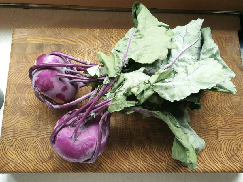 how to eat kohlrabi from csa box farmers market greens and root can you eat kohlrabi greens