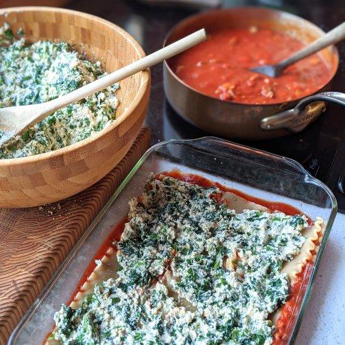 vegan tofu lasagna high protein