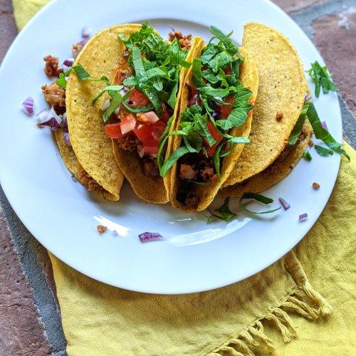 tvp taco filling recipe meatless monday taco tuesday healthy vegan gluten free