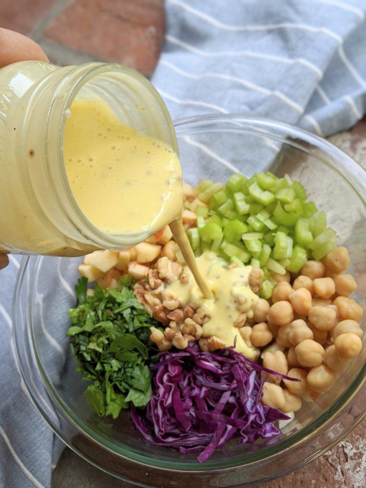 vegan waldorf salad recipe healthy vegan salad recipes to meal prep with homemade maple dijon mustard dressing honey mustard healthy homemade salads