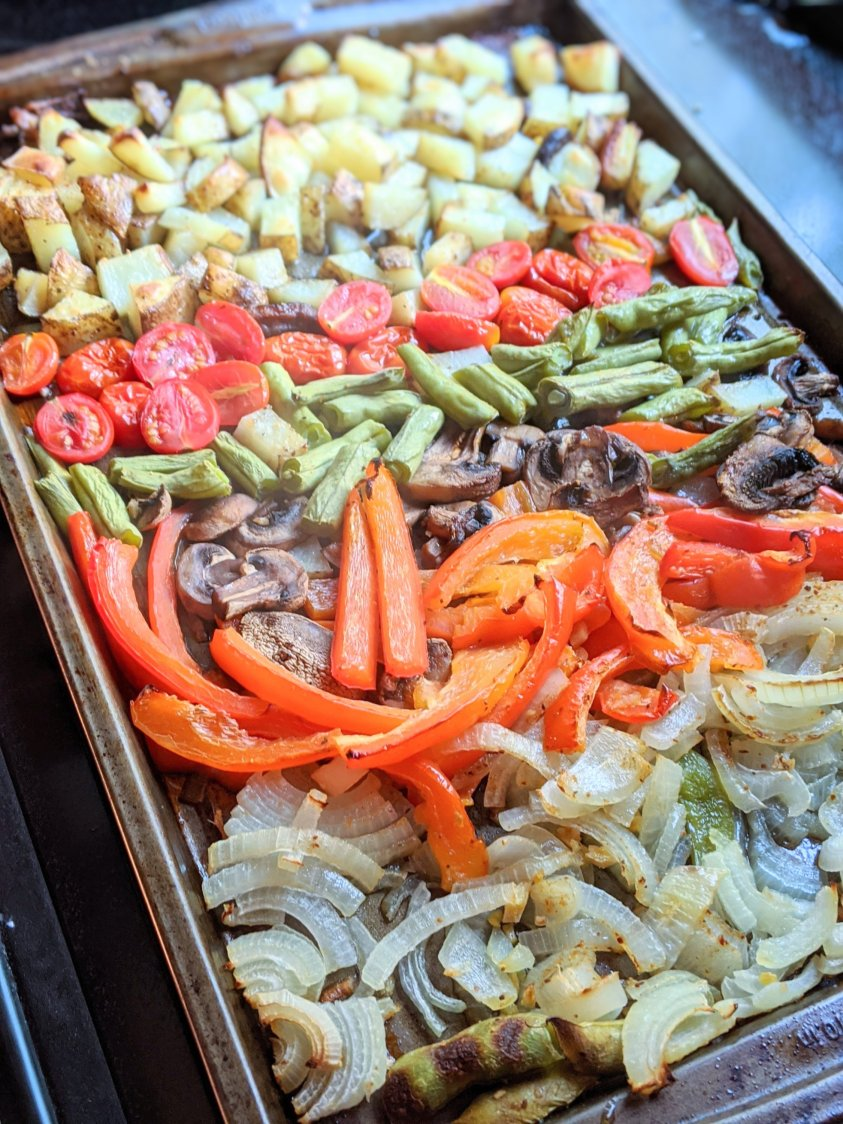 sheet pan stir fry recipe vegan gluten free vegetarian healthy one pan dinner recipes vegetarian