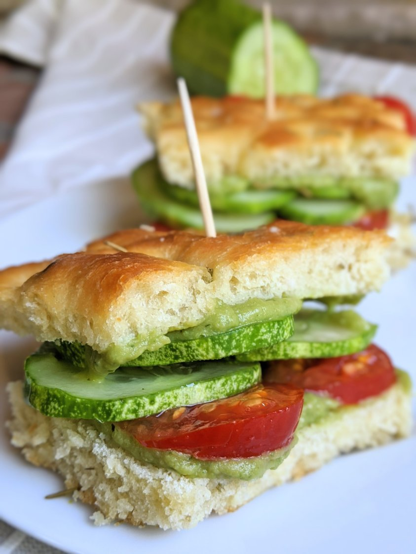 no cook summer sandwich recipes for garden tomatoes and cucumbers with homemade hummus recipes