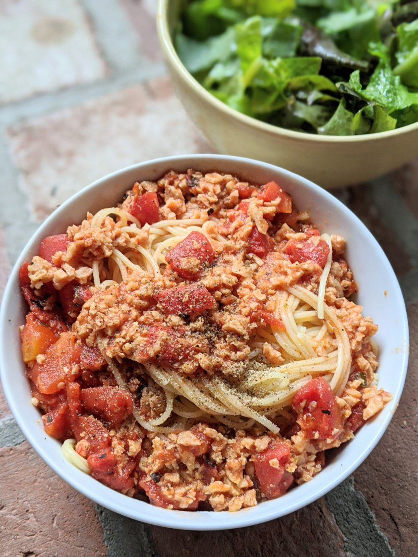 vegetarian meat sauce for pasta vegan spag bol sauce with tvp spaghetti bolognese with textured vegetable protein gluten free pasta sauce tomato sauce with tvp