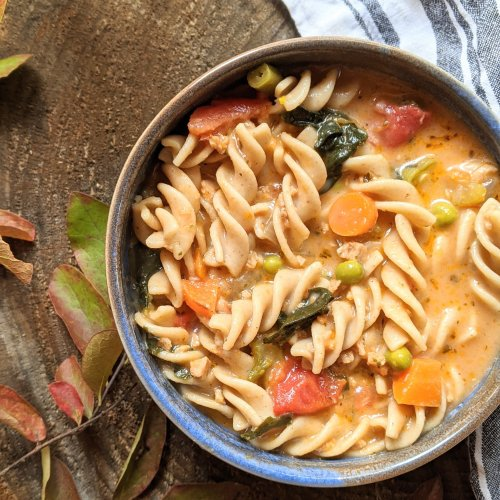 creamy minestrone soup recipe vegan dairy free healthy high protein