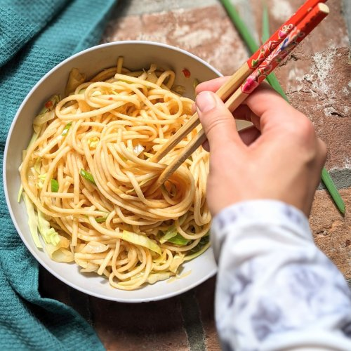 udon noodle stir fry recipe healthy vegan vegetarian chinese recipes