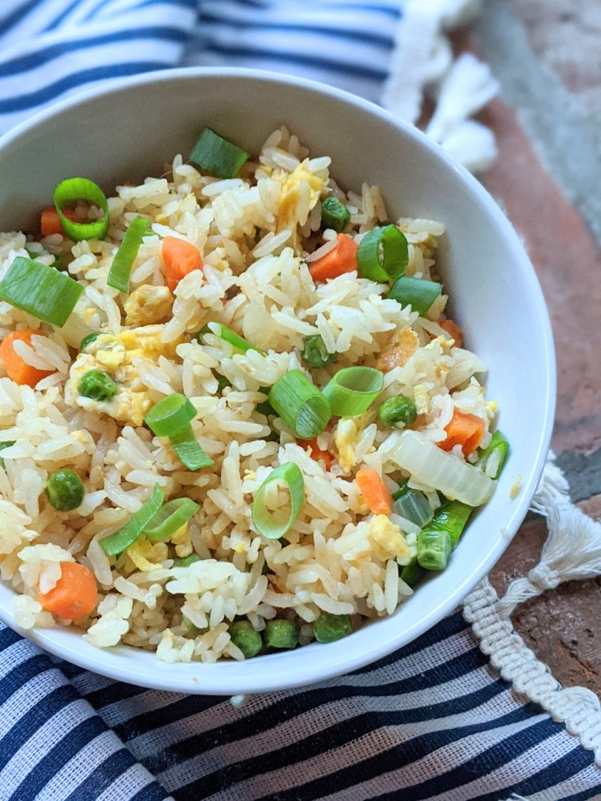 light and fluffy fried rice recipe using old leftover rice from chinese food rice recipes take out fakeaway old rice into delilcious meal easy