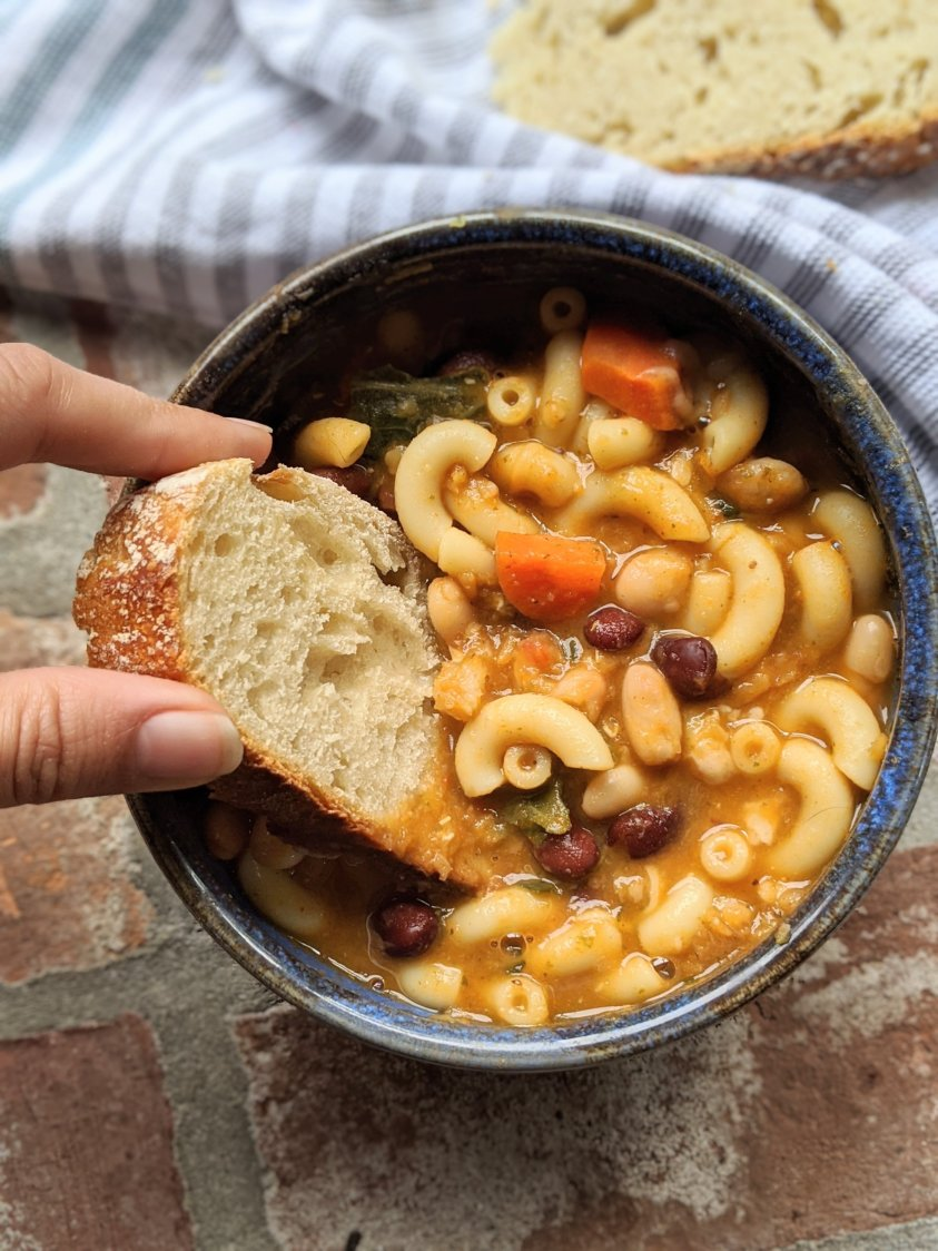 pasta fagioli recipe with lentils pasta fajool recipes with lentils added for vegetarian high protein meal recipes soup homemade easy hearty healthy