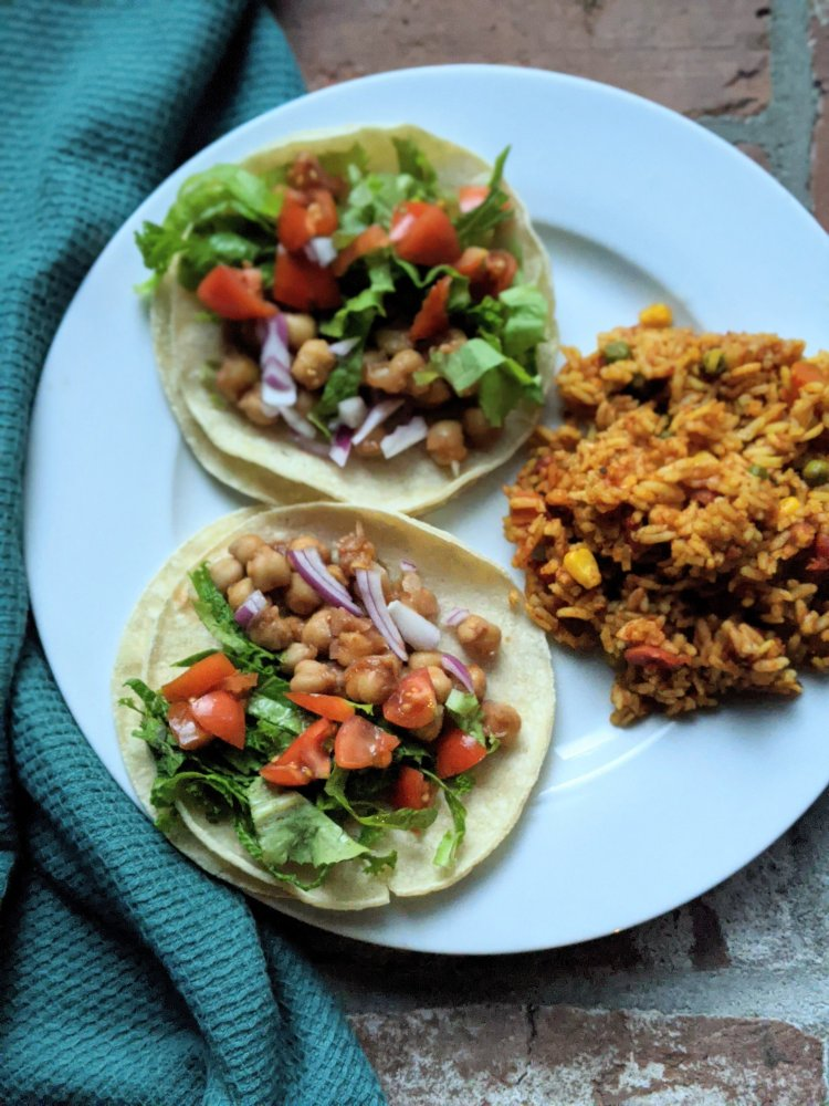canned garbanzo bean tacos taco night vegan pantry recipes gluten free vegetarian corn tortillas authentic mexican bbq tacos recipe