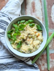 instant pot garden risotto recipe no stir italian IP recipe vegan gluten free