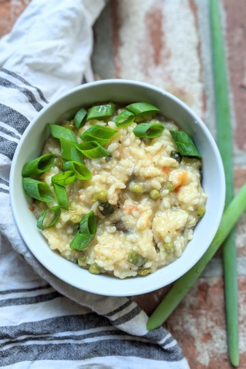 instant pot garden risotto recipe no stir italian IP recipe vegan gluten free