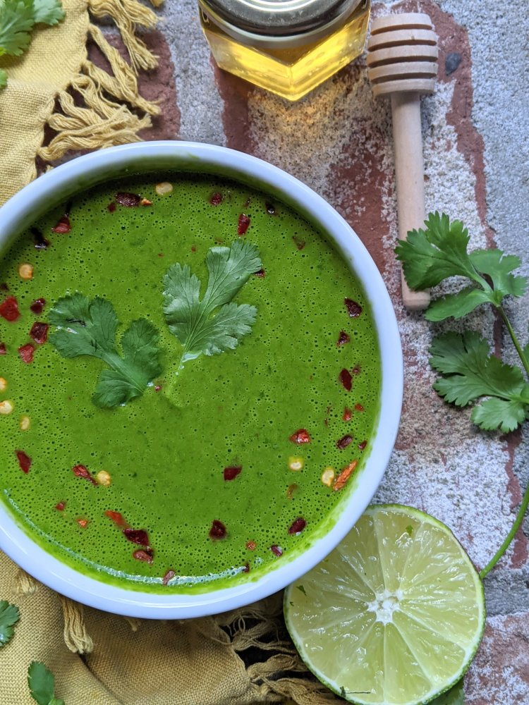 honey chimichurri sauce recipe healthy bright and fresh sauce for beef chicken fish salmon cod chicken steak best whole30 sauces easy blender